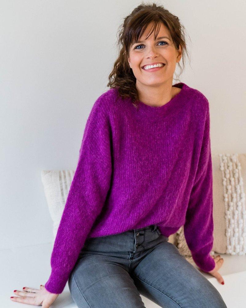 Crop Sweater Purple