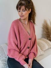 Button Knit Blush