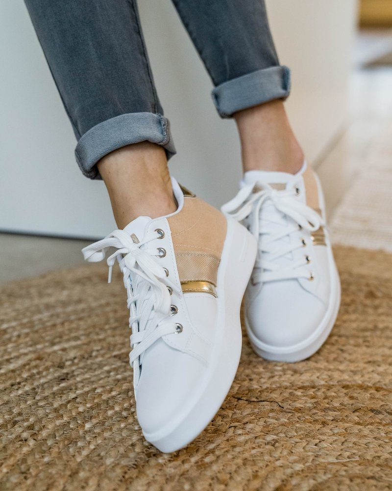 Blush & Gold Sneakers