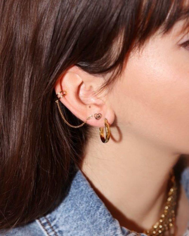 Ear Cuff Slang Stud Goud