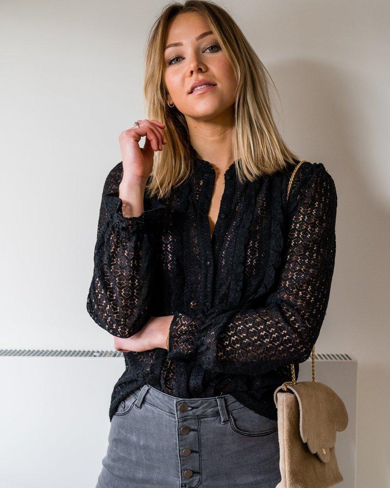 Crochet Blouse Black