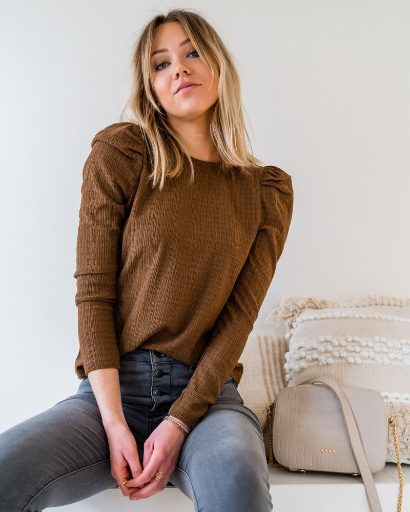 Emma Blouse Brown