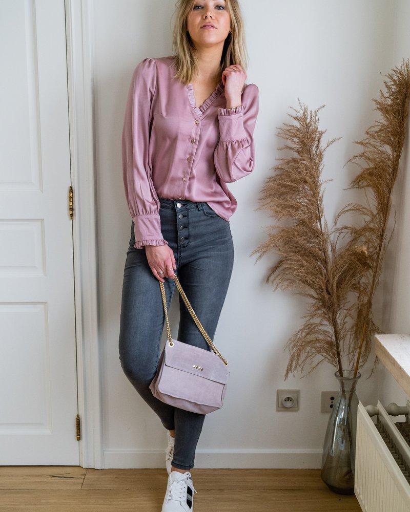 Pippa V-Blouse Roze