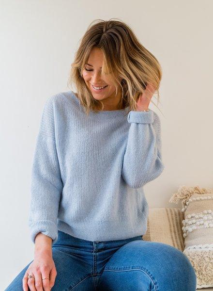 Crop Sweater Pastel Blue