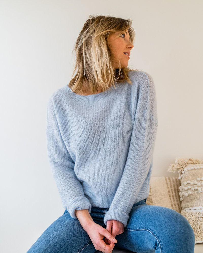 Crop Sweater Pastel Blue