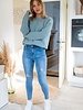 High Waist Ripped Jeans Blue