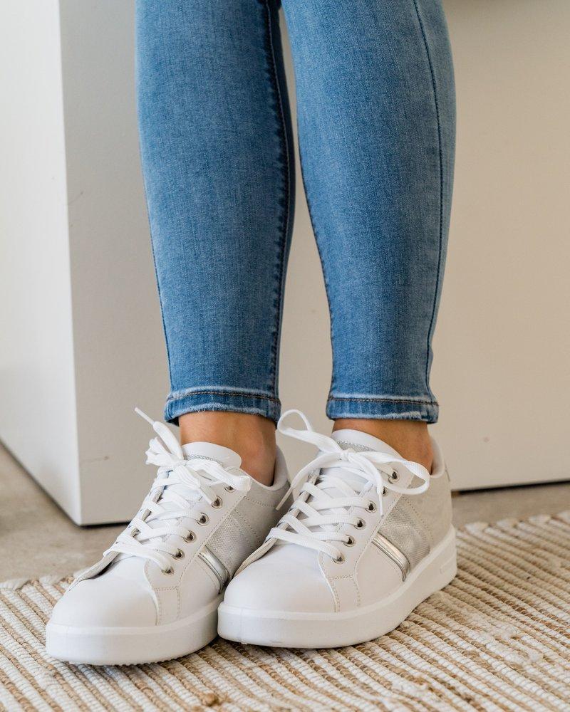 Grey & Silver Sneakers