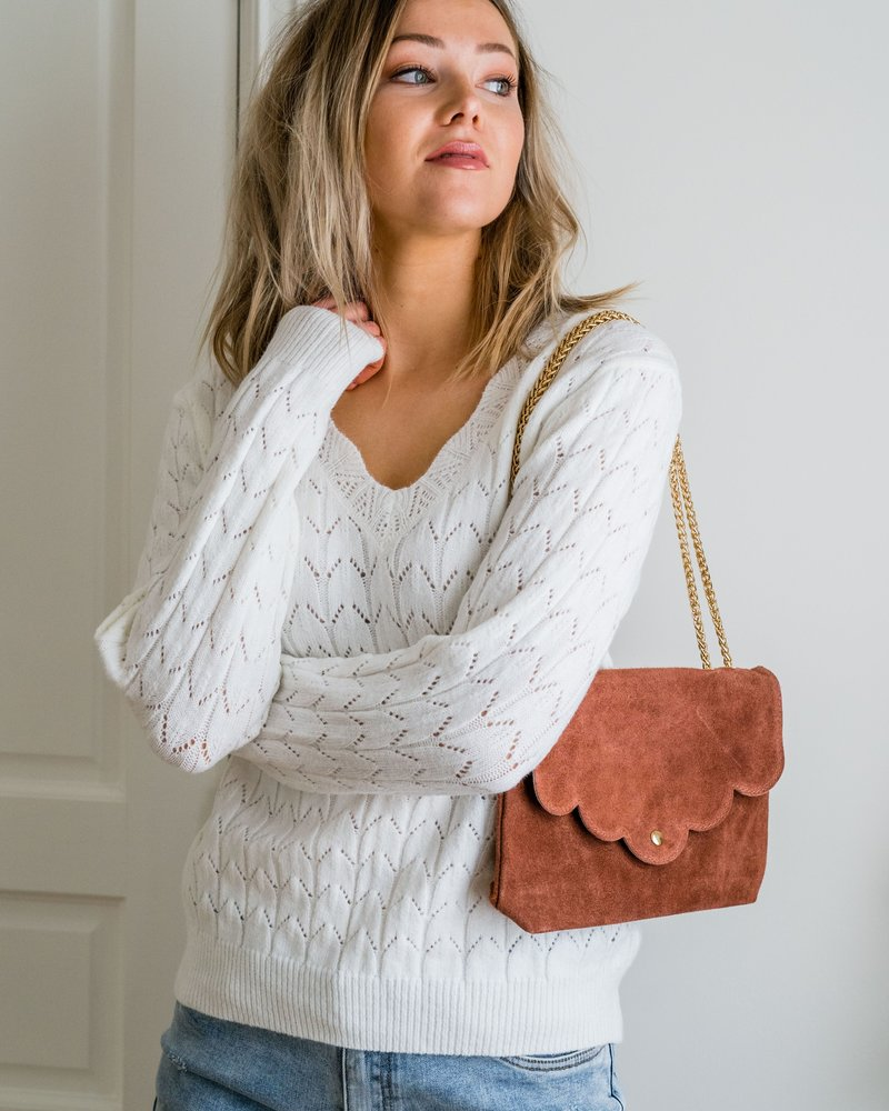 Crochet White Sweater