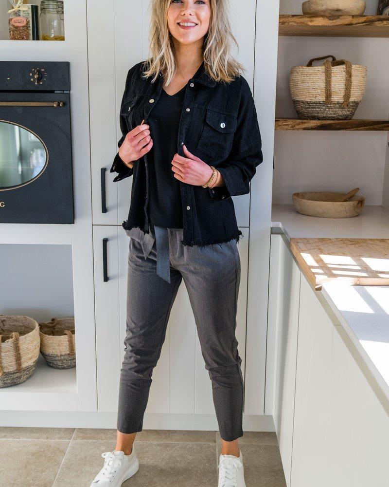 Grey Classy Pants