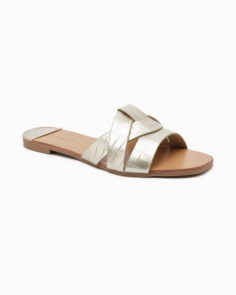 Ellie Slippers Gold
