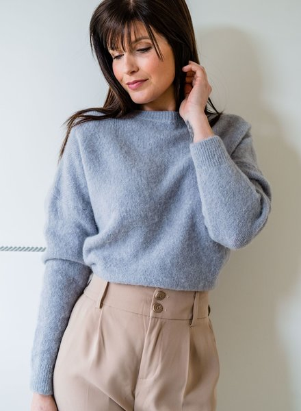 Loose Sweater Grey/Blue