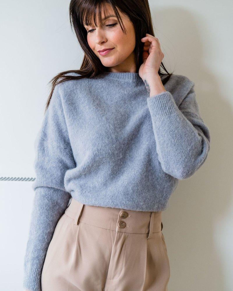 Loose Sweater Grey/Blue