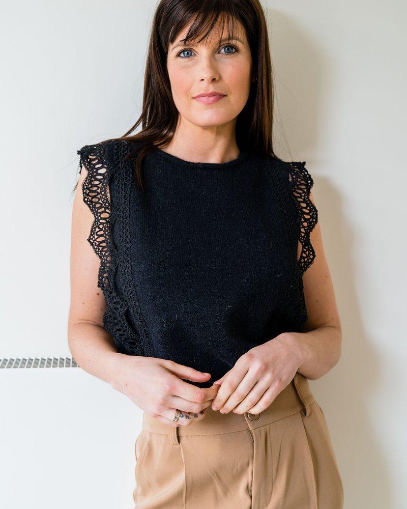 Nora Crochet Top Black