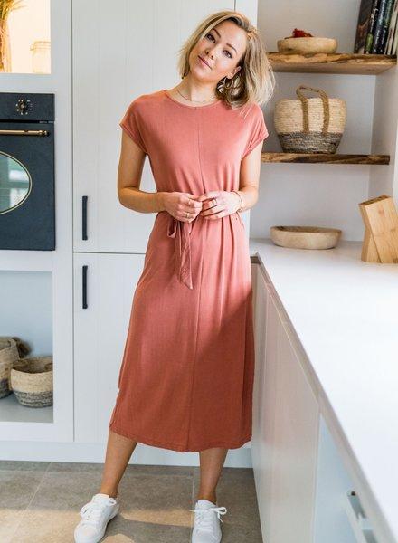 Aya Maxi Shirt Dress Roze