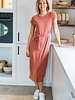 Aya Maxi Shirt Dress Roze
