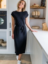 Aya Maxi Shirt Dress  Black