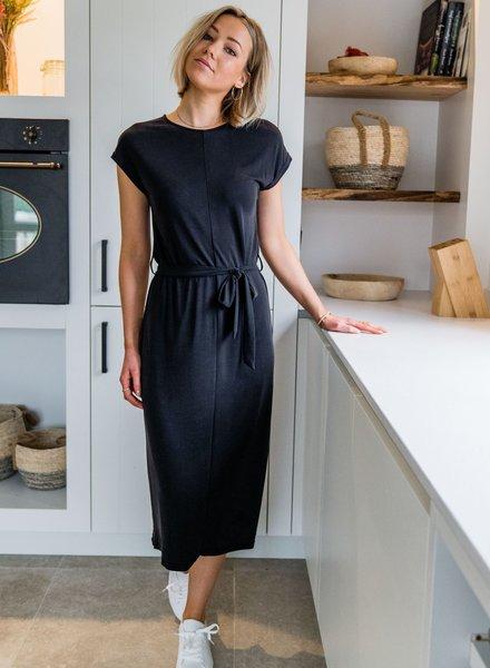 Aya Maxi Shirt Dress  Black