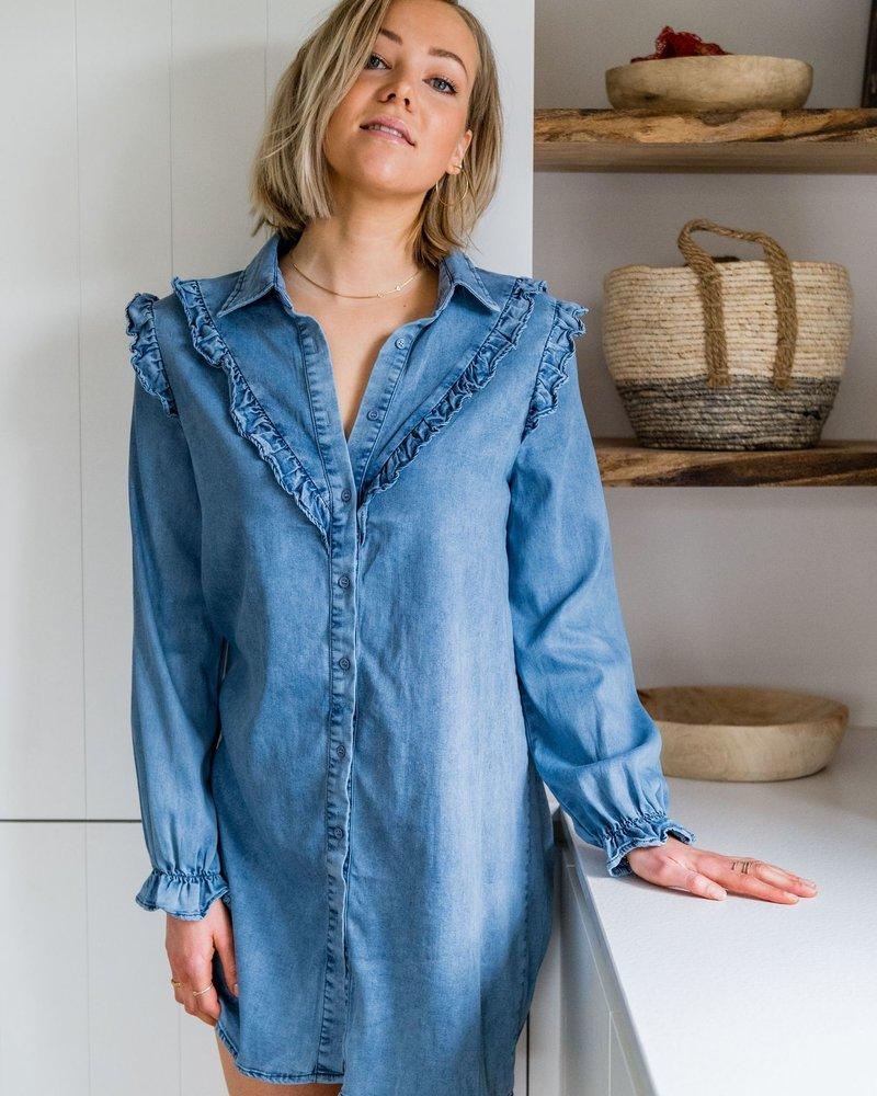 Jeans Frill Dress
