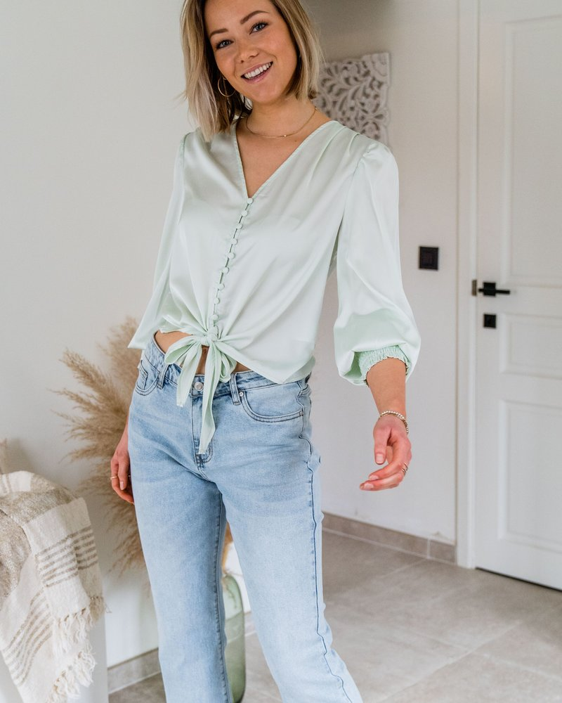 Satin Feel Blouse Mint