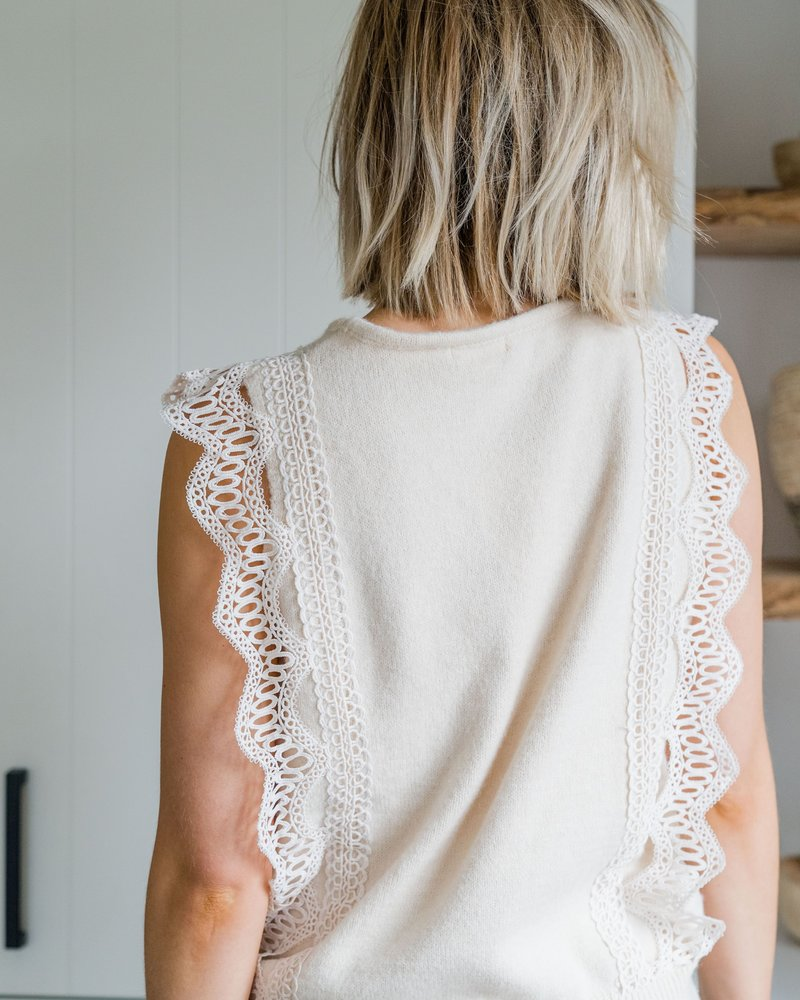 Nora Crochet Top Beige