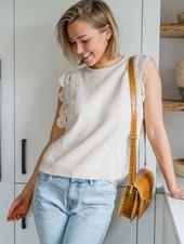 Nora Crochet Top Beige