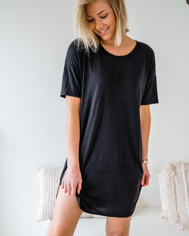 Aya Shirt Dress Black