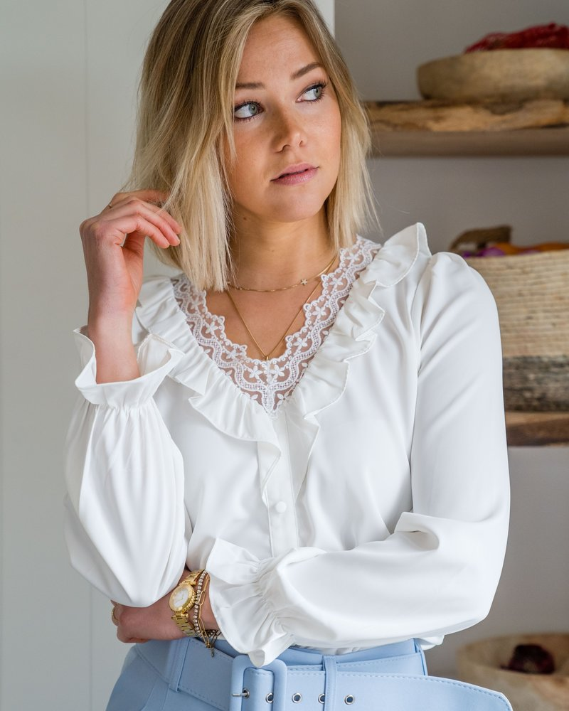 Lucie Blouse White