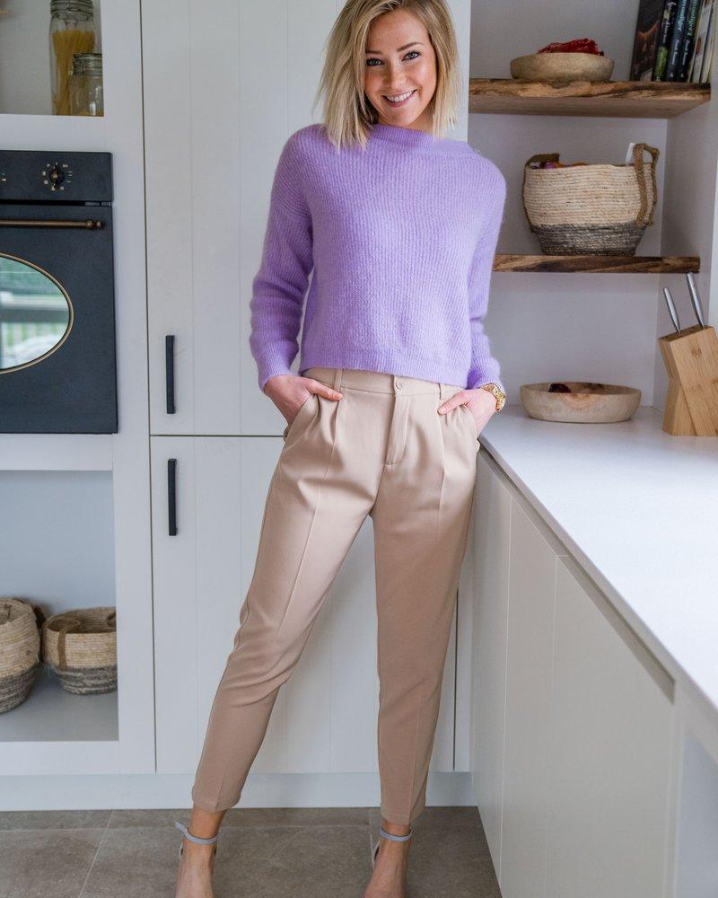Crop Sweater Lila