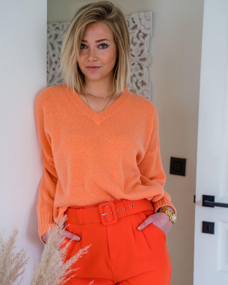 V- Sweater Orange