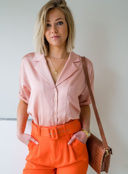 Yentl - Satin Blouse Pink