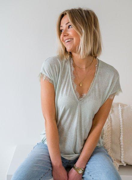 Perfect Lace T-shirt Mint