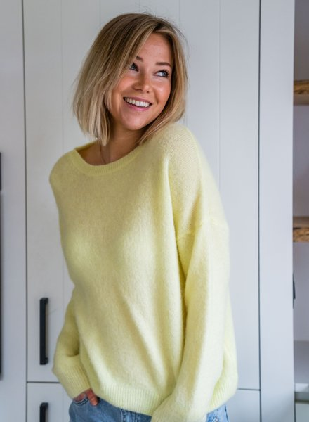 Loose Sweater Bright Yellow