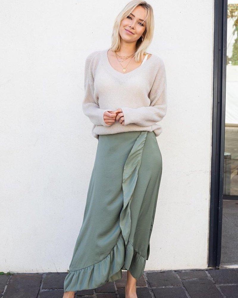 Kaki Frill Skirt