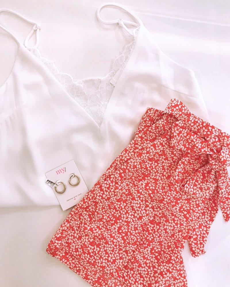 Red Flower Short