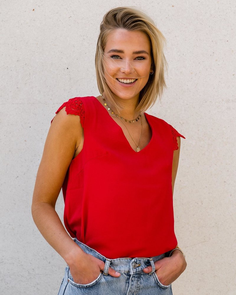 Red Lace Top LARGE
