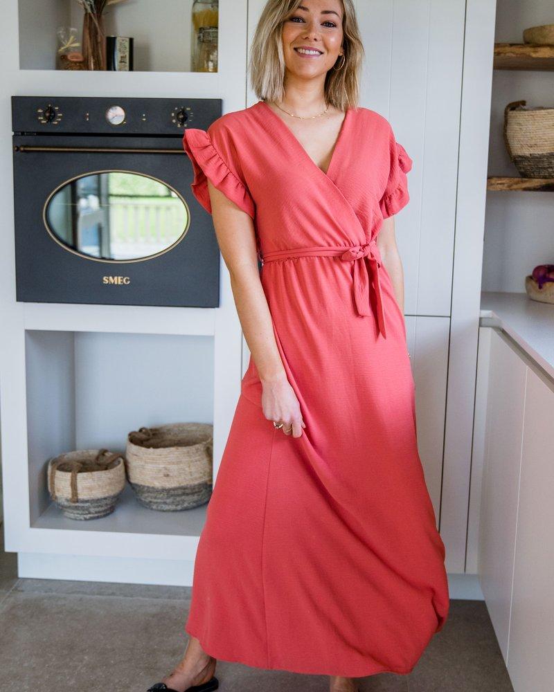 Fleur Maxi Dress Corail