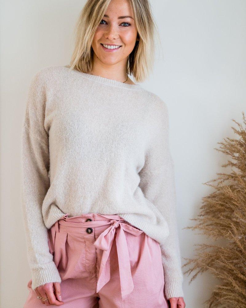 Loose Sweater Beige