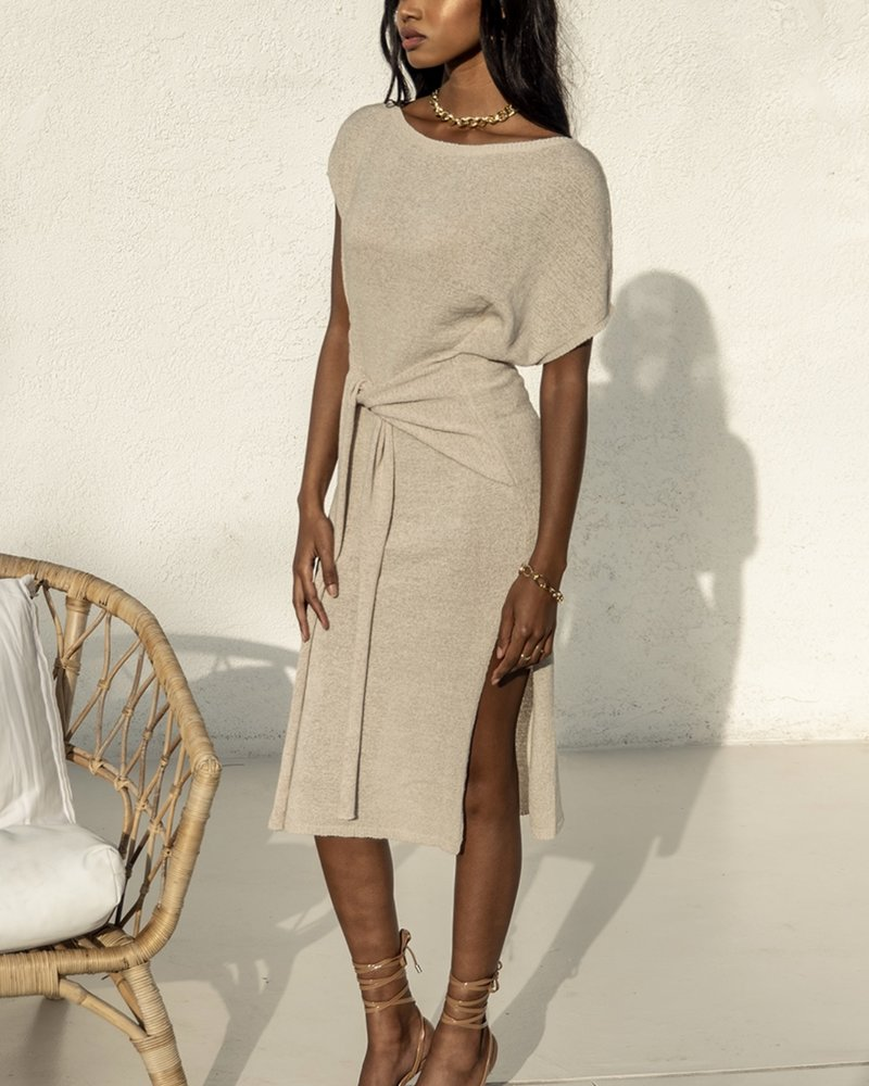 Oatmeal Knit Dress