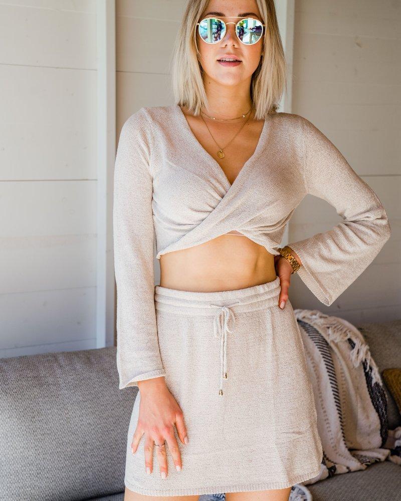 Xenia Skirt Oatmeal