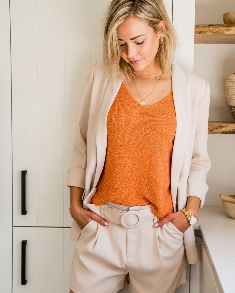 Classy Belt Short Beige
