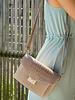 Kroko Leather Bag Beige