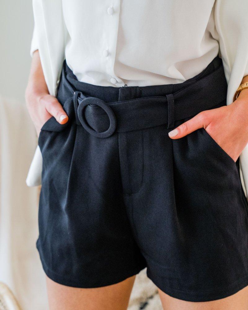Classy Belt Short Black