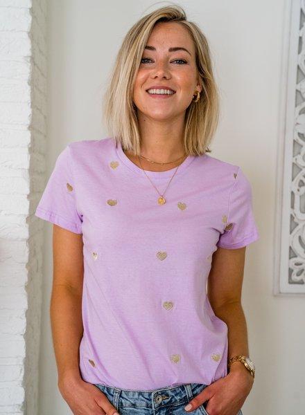 Lots Of Love T-Shirt Lila