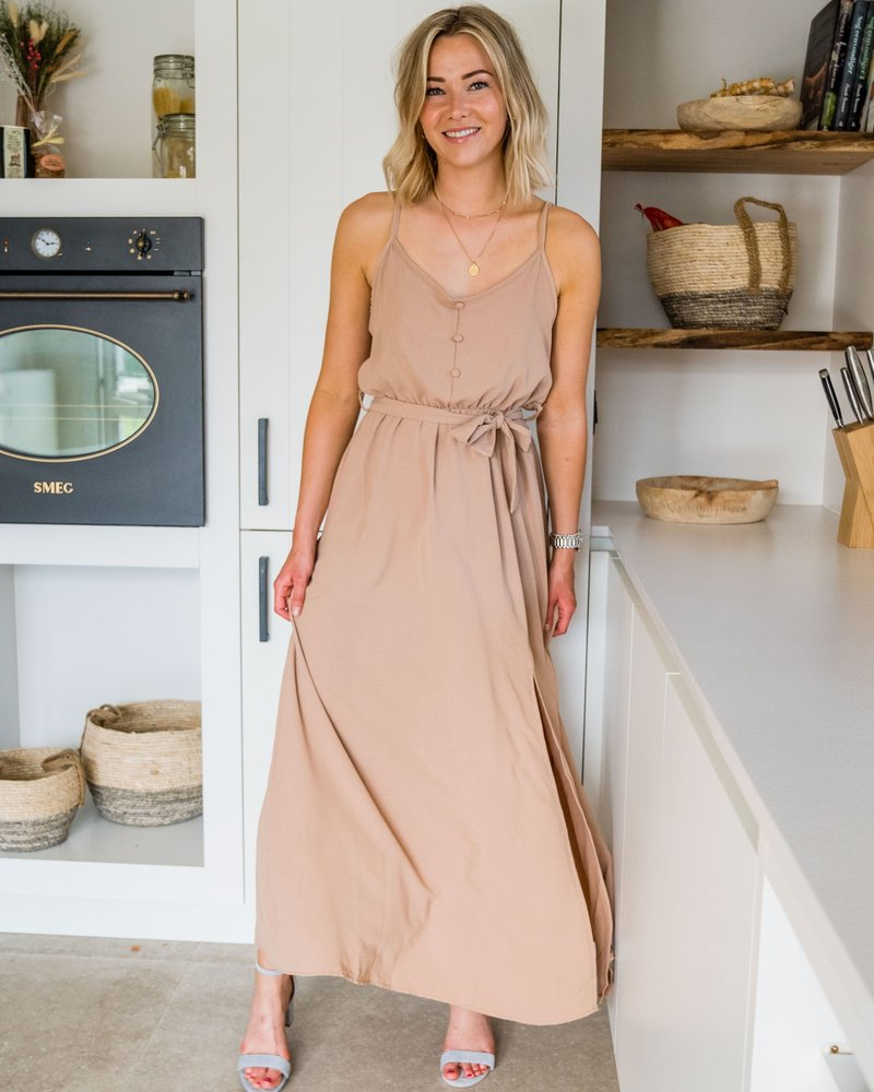 Mali Maxi Dress Beige