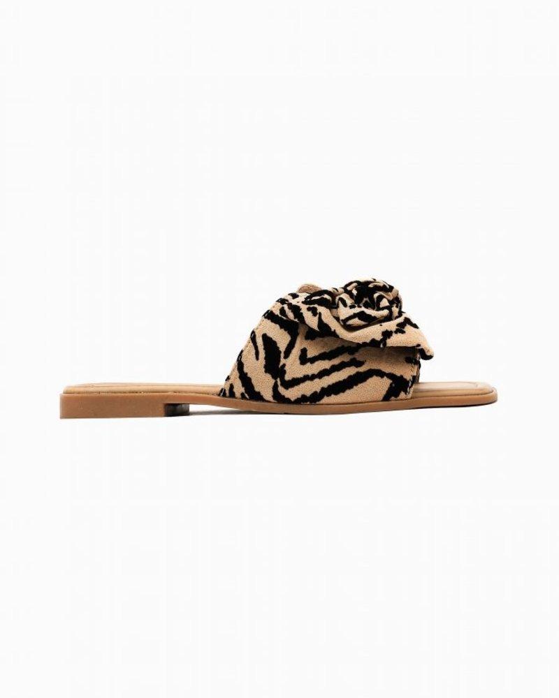 Bow Slippers Zebra