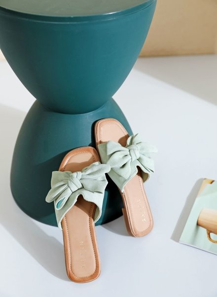 Bow Slippers Mint