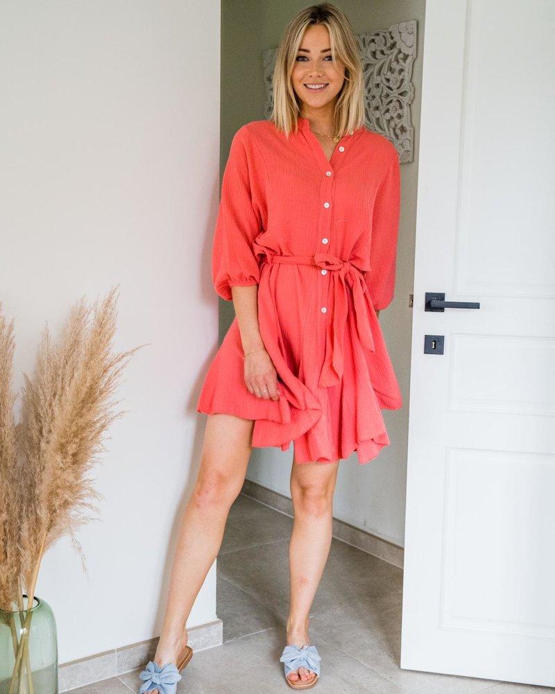 Tetra Dress Peach