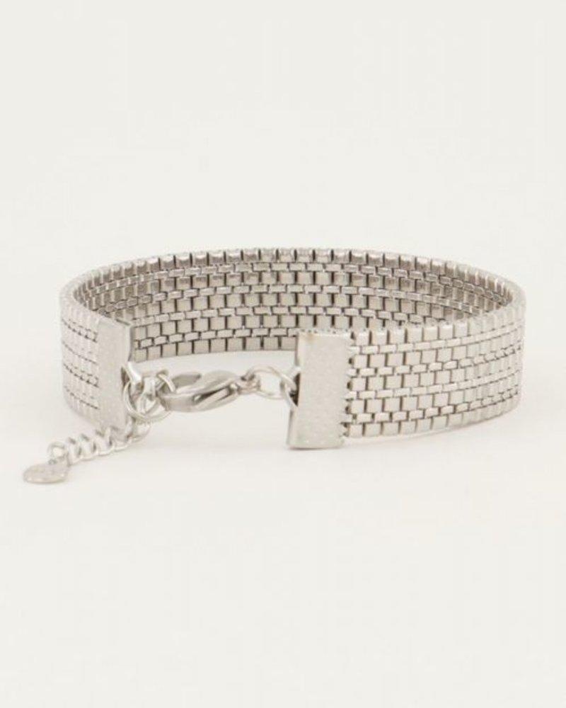 Armband Schakels Mesh Zilver