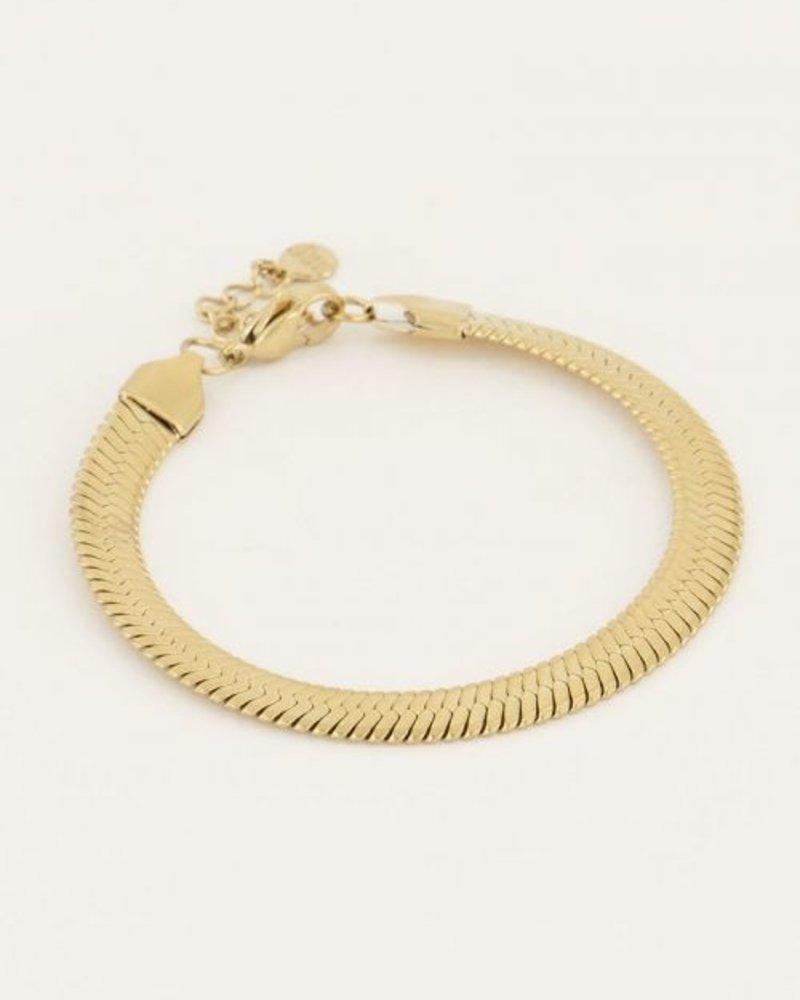 Armband Schakels Plat Goud