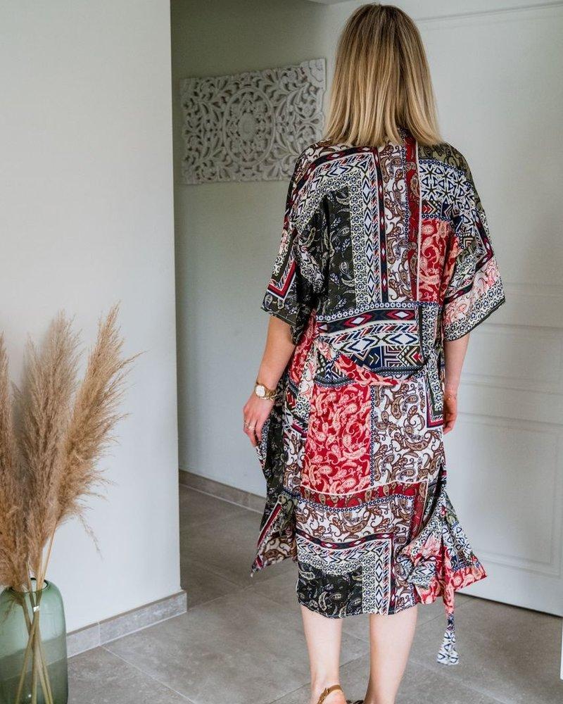 Aztec Kimono Kaki